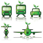 Green transportation — Stock Vector
