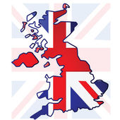 United Kingdom map — Stock Vector