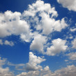 Stock Photo: Cloudy blue sky. Beauty blue heaven background
