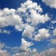 Cloudy blue sky. Beauty blue heaven background - Stock Photo
