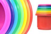 Colored flower pots — Stock Photo