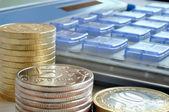 Money and calculator — Foto de Stock