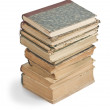 Old books in a stack — Stock Photo