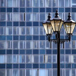 Stock Photo: Lamp against wall of building