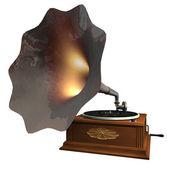 Gramaphone Isolated — Stock Photo