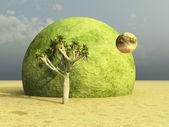 Joshua tree on a surreal desert. — Stock Photo