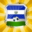 Royalty-Free Stock Vektorfiler: Shield with flag of El Salvador
