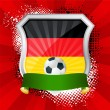 Royalty-Free Stock ベクターイメージ: Shield with flag of  Germany