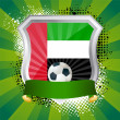 Shield with flag of United Arab Emirates — Imagen vectorial