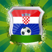 Shield with flag of Croatia — Stock Vector