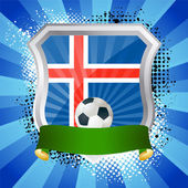 Shield with flag of Iceland — Stock Vector