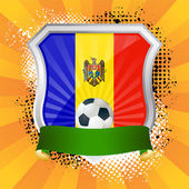 Shield with flag of Moldova — Stock Vector
