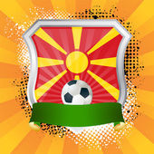 Shield with flag of Macedonia — Stock Vector