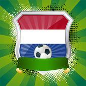 Štít s vlajkou Nizozemska — Stock vektor