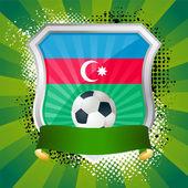 Shield with flag of Azerbaijan — Vettoriale Stock