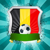 Shield with flag of Belgium — Stock Vector