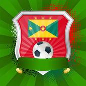 Grenada bayrağı ile kalkan — Stok Vektör