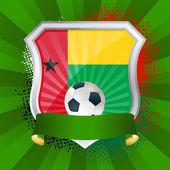 Escudo con la bandera de guinea-bissau — Vector de stock