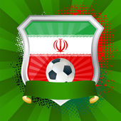 Shield with flag of Iran — Stock Vector
