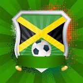 Schild mit flagge von jamaika — Stockvektor