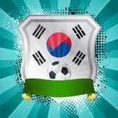 Schild met vlag van Zuid-korea — Stockvector