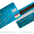 Stock Vector: Vector credit cards, front and back view