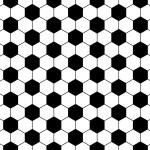 Seamless football pattern, vector — Stock Vector