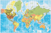 Mappa con tutti i nomi — Vettoriale Stock