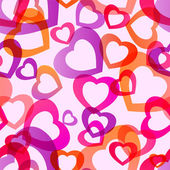 Transparent hearts seamless — Stock Vector