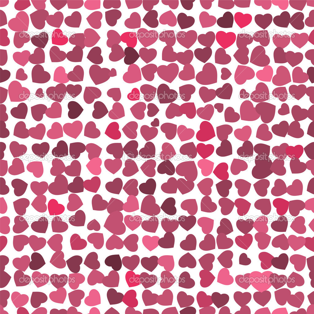 HQ Pattern - Red hearts background on white. Vector EPS 10. — Stock Vector #3742633