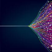 красочные линии на синем фоне — Cтоковый вектор