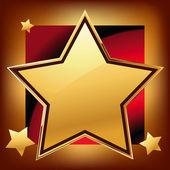 Golden star — Stock Vector