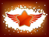 Star and wings with copyspace — Stock Vector
