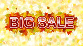 Vector autumn big sale — Stock Vector