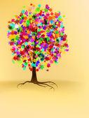 Diseño de árbol otoño colorido — Vector de stock