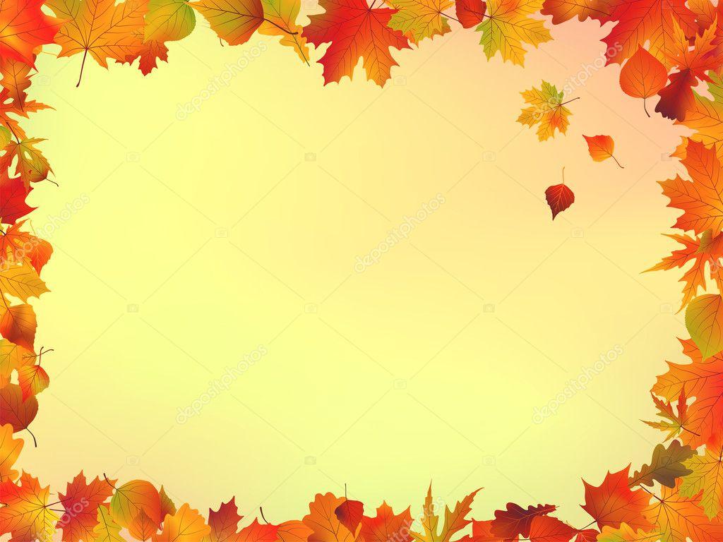 秋天的叶子帧 — 图库矢量图片 #3794850