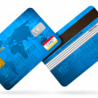 Blue Classic Vector credit cards — Stock Vector