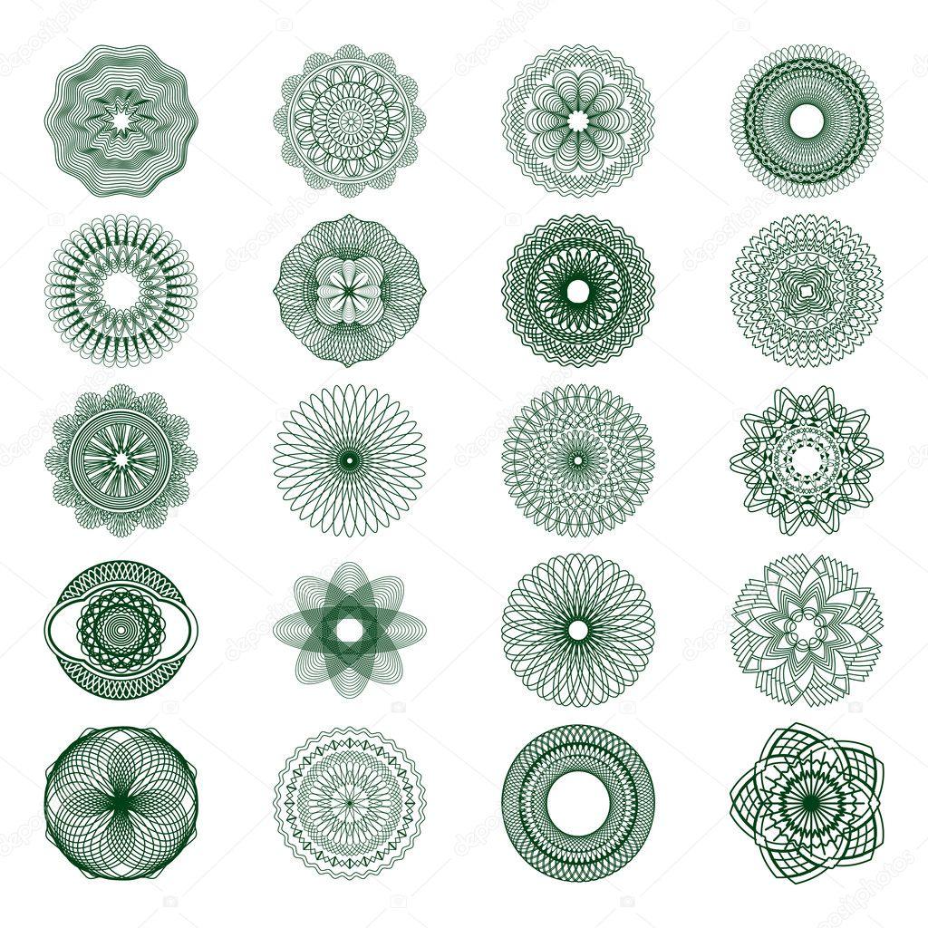 Розетка guilloche — Векторное изображение © beholdereye ...: http://ru.depositphotos.com/3800694/stock-illustration-guilloche-rosette.html