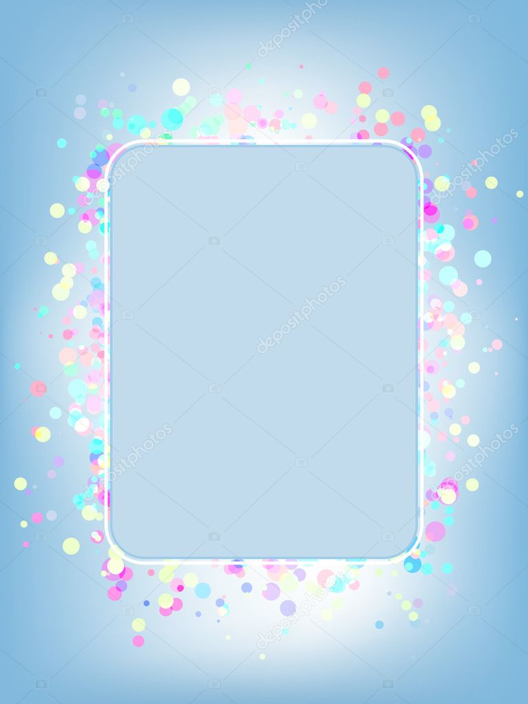 Vector colorful frame. EPS 8 vector file included  Stock Vector #3805659