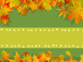 Decorative autumn background — Stock Vector