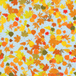 Seamless pattern with autumn leafs — ストックベクタ