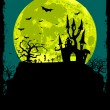 Halloween poster background - Stock Vector