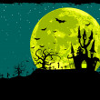 Vector de stock : Halloween poster background