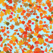 Autumn leaves, seamless background — Stock Vector