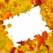 Royalty-Free Stock Vector Image: Autumn frame turned at an angle