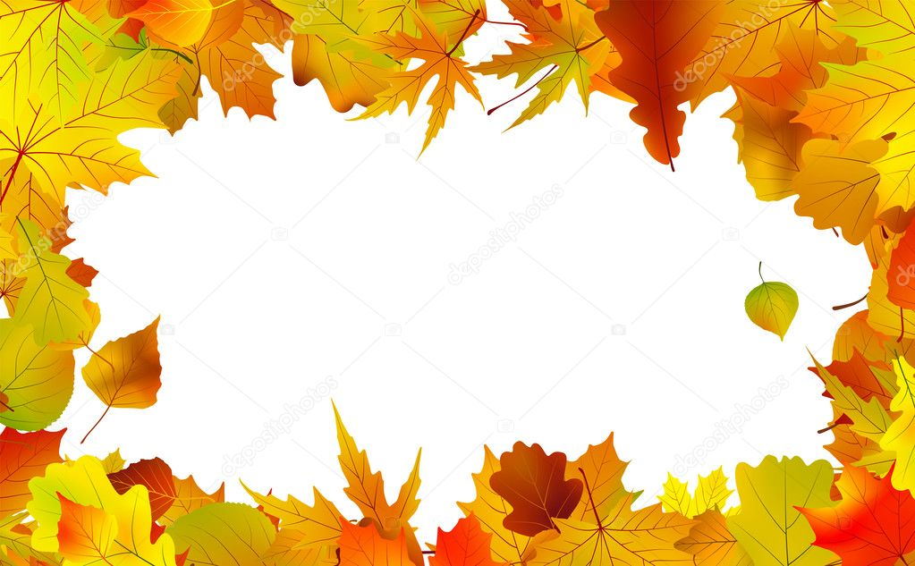 Fall Leaves Page Border http://depositphotos.com/3922029/stock-illustration-Autumn-leaves-border-for-copy-space..html