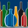 Stock Photo: Group of Alcohol Bottles