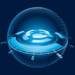 Fantasy Space Navigation Sphere. Vector Illustration — Stock Vector