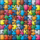 Jigsaw puzzle colorful pattern (vector illustration) — Stock Vector