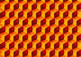Warm colors transparent Boxes 3D pattern. Vector Illustration. — Stock Vector